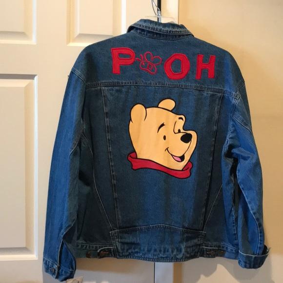 f8dd7e5e9fa1 Disney Winnie Pooh leather denim jacket NWT XL